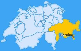 Bezirk Bernina Landkarte