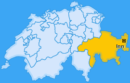 Bezirk Inn Landkarte