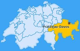 Bezirk Prättigau-Davos Landkarte