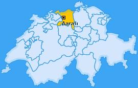 Bezirk Aarau Landkarte