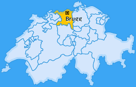 Bezirk Brugg Landkarte