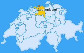 Bezirk Laufenburg Landkarte