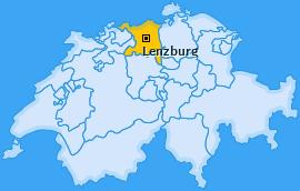 Bezirk Lenzburg Landkarte