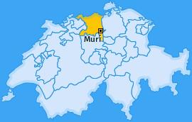 Bezirk Muri Landkarte