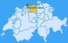 Bezirk Rheinfelden Landkarte