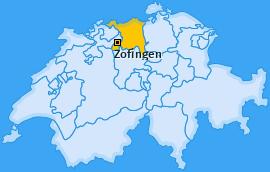 Bezirk Zofingen Landkarte