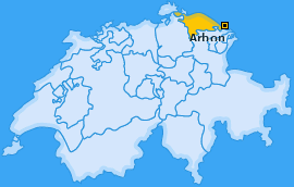 Bezirk Arbon Landkarte