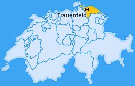 Bezirk Frauenfeld Landkarte