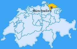 Bezirk Münchwilen Landkarte