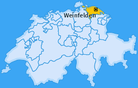 Bezirk Weinfelden Landkarte