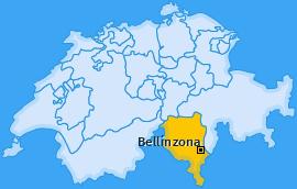 Bezirk Bellinzona Landkarte
