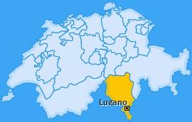 Bezirk Lugano Landkarte