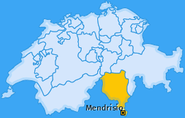Bezirk Mendrisio Landkarte