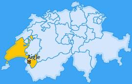Bezirk Aigle Landkarte