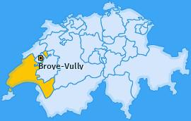 Bezirk Broye-Vully Landkarte