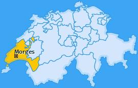 Bezirk Morges Landkarte