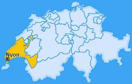 Bezirk Nyon Landkarte