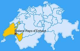 Bezirk Riviera-Pays-d´Enhaut Landkarte