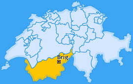 Bezirk Brig Landkarte