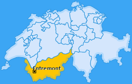 Bezirk Entremont Landkarte