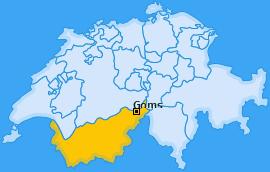 Bezirk Goms Landkarte