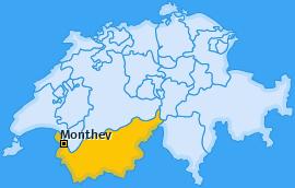 Bezirk Monthey Landkarte