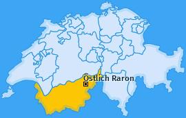 Bezirk Östlich Raron Landkarte