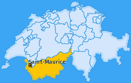 Bezirk Saint-Maurice Landkarte