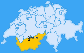 Bezirk Sierre Landkarte