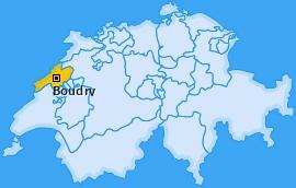 Bezirk Boudry Landkarte