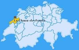 Bezirk La Chaux-de-Fonds Landkarte