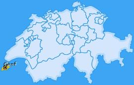 Kanton Genf Landkarte