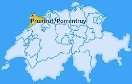Bezirk Pruntrut/Porrentruy Landkarte
