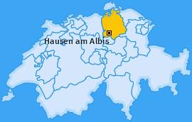 Karte von Hausen am Albis