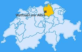 Karte von Wettswil am Albis
