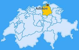 Karte von Adlikon