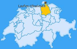 Karte von Laufen-Uhwiesen