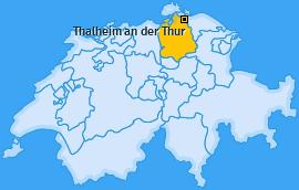 Karte von Thalheim an der Thur