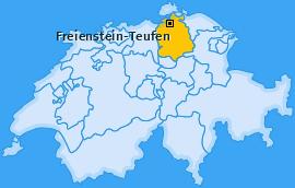 Karte von Freienstein-Teufen