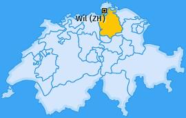Karte von Wil (ZH)