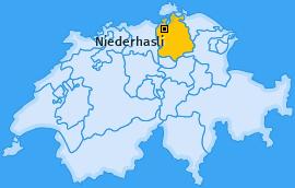 Karte von Niederhasli