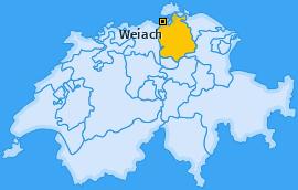 Karte von Weiach