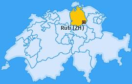 Karte von Rüti (ZH)