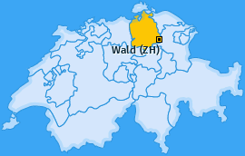 Karte von Wald (ZH)
