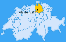 Karte von Kilchberg (ZH)
