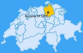Karte von Küsnacht (ZH)