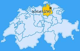 Karte von Schlatt (ZH)