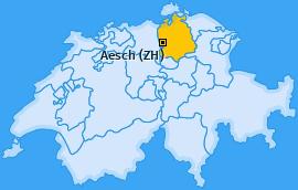 Karte von Aesch (ZH)