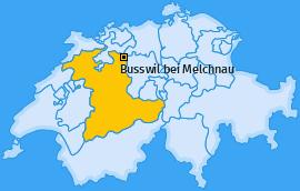 Karte von Busswil bei Melchnau