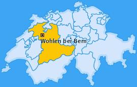 Karte Uettligen Wohlen bei Bern